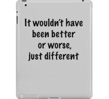 Just Different iPad Case/Skin