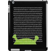 All Star Lyrics iPad Case/Skin