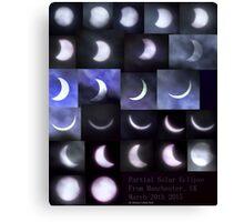 Partial Solar Eclipse Montage Canvas Print