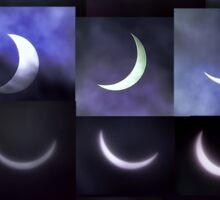 Partial Solar Eclipse Montage Sticker