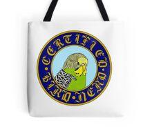 Certified Bird Nerd (budgie yellow/green) Tote Bag