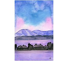 Far away on the road - Watercolor Painting Photographic Print