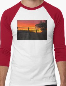 Bear Butte Sunset Men's Baseball ¾ T-Shirt