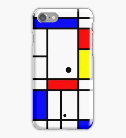 Mondrian style art iPhone Case/Skin