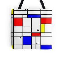 Mondrian style art Tote Bag