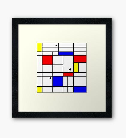 Mondrian style art Framed Print