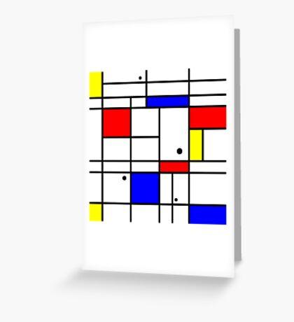 Mondrian style art Greeting Card