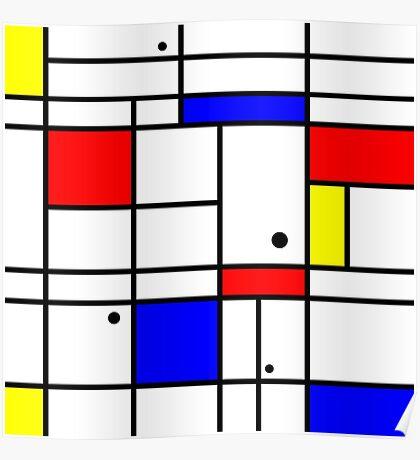 Mondrian style art Poster