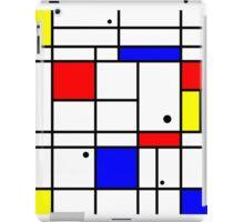 Mondrian style art iPad Case/Skin
