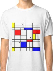 Mondrian style art Classic T-Shirt