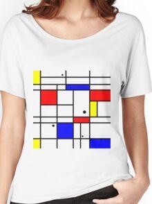 Mondrian style art Women's Relaxed Fit T-Shirt