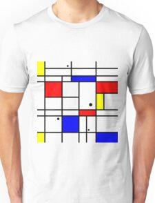 Mondrian style art Unisex T-Shirt