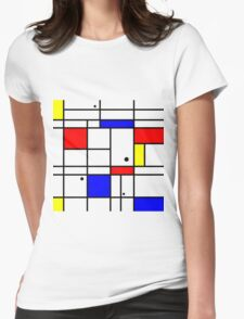 Mondrian style art Womens Fitted T-Shirt