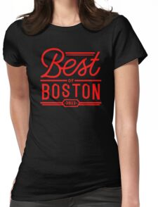 Best of boston Womens Fitted T-Shirt