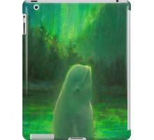 Aurora Beluga - White Whale Northern lights Painting iPad Case/Skin
