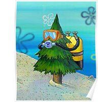 Spongebob Diving Tree Poster