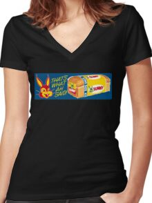BUNNY BREAD Women's Fitted V-Neck T-Shirt