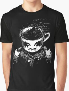 Black Metal Coffee Graphic T-Shirt