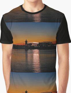 Sunset on Paul Brown Stadium Graphic T-Shirt