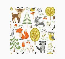 Cute Colorful Pastel Tones Stylized Forest & Animals Illustration  Unisex T-Shirt