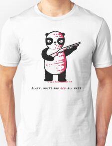 Black Red and White Unisex T-Shirt