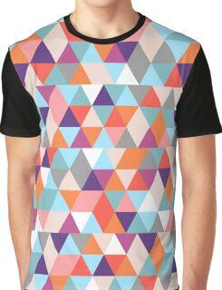 Retro Triangles Pattern Graphic T-Shirt