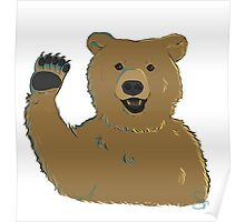 Waving Bear Poster