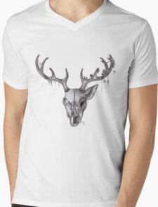 Stag Forest Spirit Mens V-Neck T-Shirt
