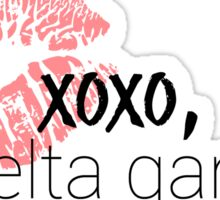 xoxo, delta gamma Sticker