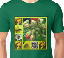 Biology Lesson - The Buds And  The Bees Collage Unisex T-Shirt