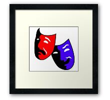 Tragedy and Comedy  Masks  Framed Print