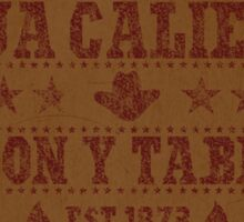 Agua Caliente - Saloon and Tavern Sticker