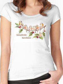 Geseënde Kersfees! Women's Fitted Scoop T-Shirt