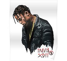Travis Scott la Flame Poster