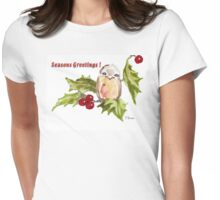 1 Little Bird - Season's Greetings! Womens Fitted T-Shirt