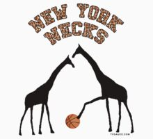 New York Necks (giraffe pattern for light-colored shirts) by TVsauce