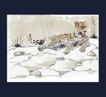 African Leopard {Panthera pardus} 'Luiperd' Kids Tee