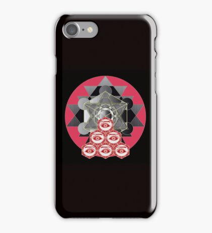 Om cube with six eyes iPhone Case/Skin