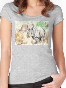 Two White Rhinos Women's Fitted Scoop T-Shirt