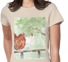 The Chicken Run Womens Fitted T-Shirt