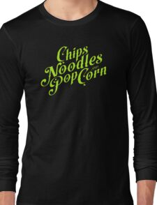 Chips noodles and popcorn Long Sleeve T-Shirt