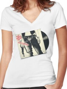 The Rebel Scum Sticky Tunes Women's Fitted V-Neck T-Shirt