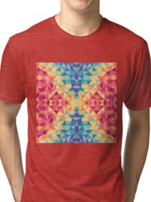 Bright multi-colored geometric design Tri-blend T-Shirt