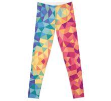 Bright multi-colored geometric design Leggings