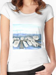 Marina, San Francisco Women's Fitted Scoop T-Shirt
