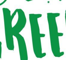I love green tea Sticker