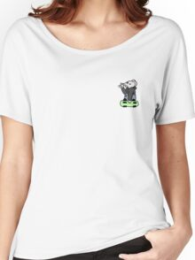 Skater Mouse- White Women's Relaxed Fit T-Shirt