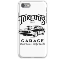 Torettos Garage iPhone Case/Skin