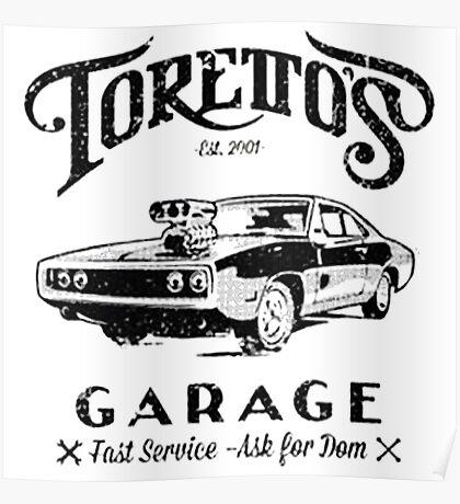 Torettos Garage Poster