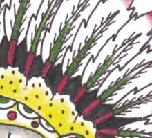 Indian Chief Skull Sticker